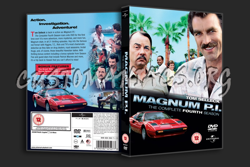 Magnum P.I. Season 4 dvd cover