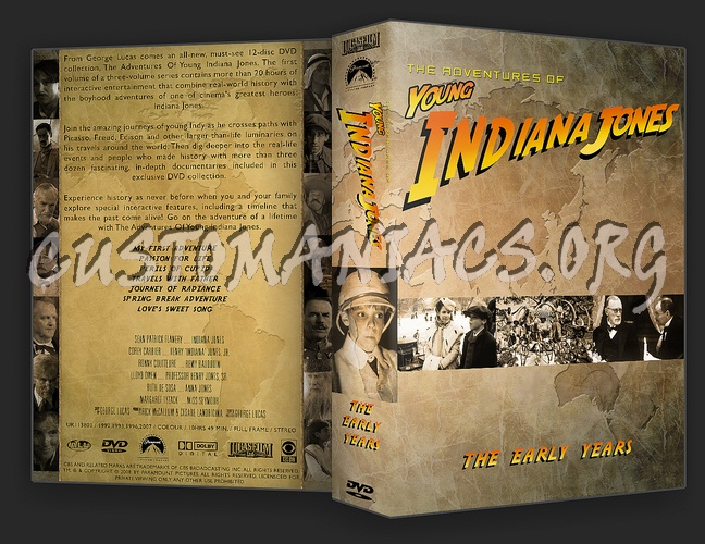 Young Indiana Jones Complete Collection dvd cover