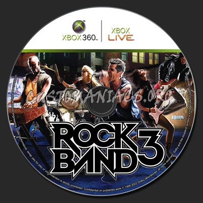 Rock Band 3 XBox 360 dvd label - DVD Covers & Labels by
