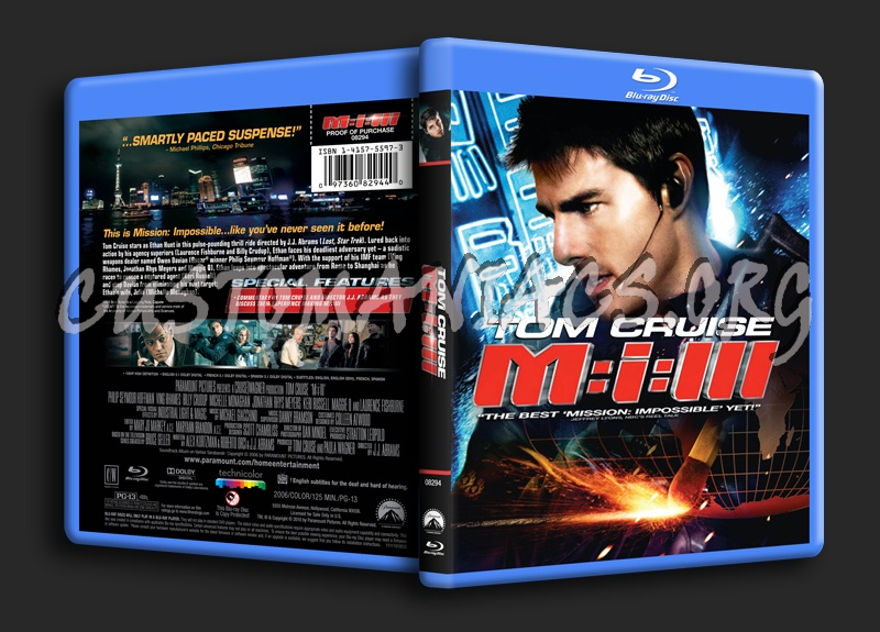 Mission Impossible 3 blu-ray cover