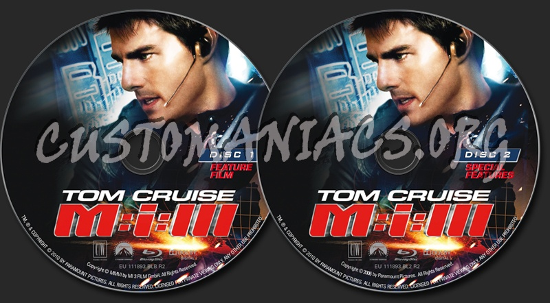 Mission Impossible 3 blu-ray label