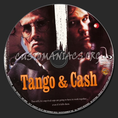 Tango and Cash blu-ray label