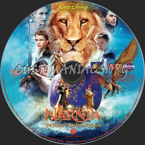 The Chronicles of Narnia:Voyage of the Dawn Treader dvd label