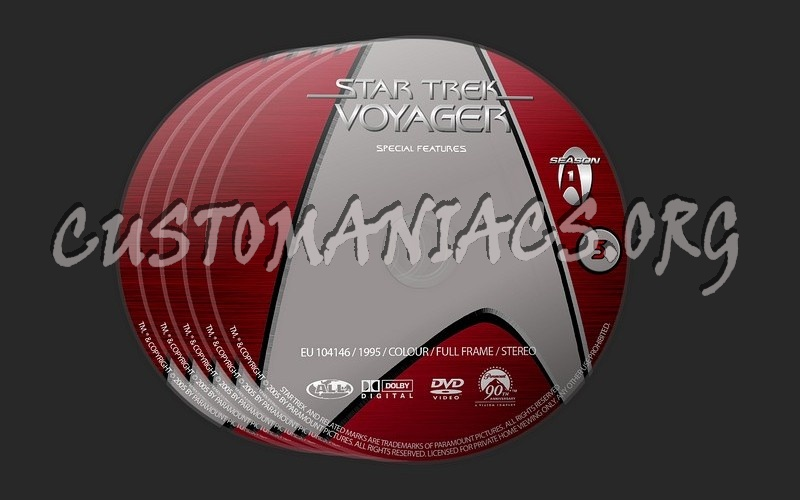 Star Trek Voyager Season 1 dvd label