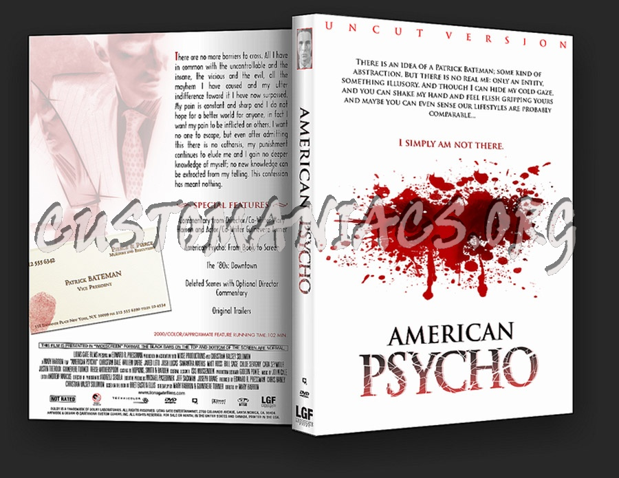 American Psycho dvd cover