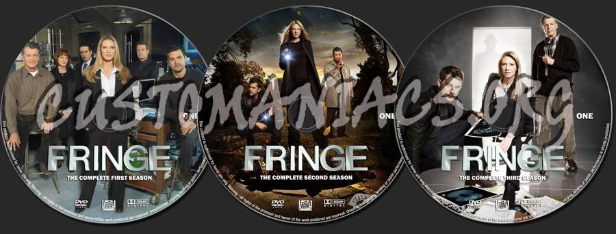 Fringe Seasons 1-3 dvd label