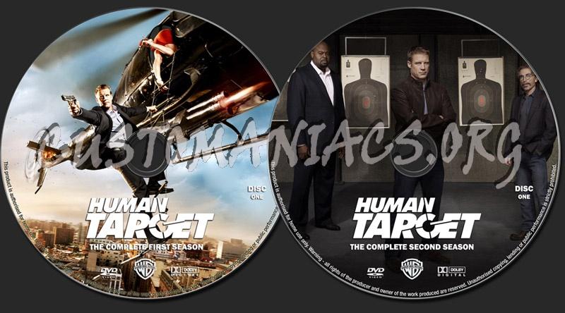 Human Target Seasons 1-2 dvd label