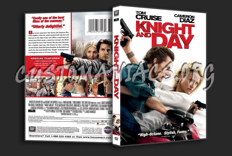 Knight and Day dvd cover