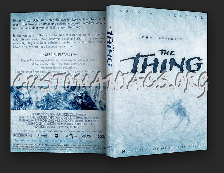 John Carpenter's The Thing dvd cover