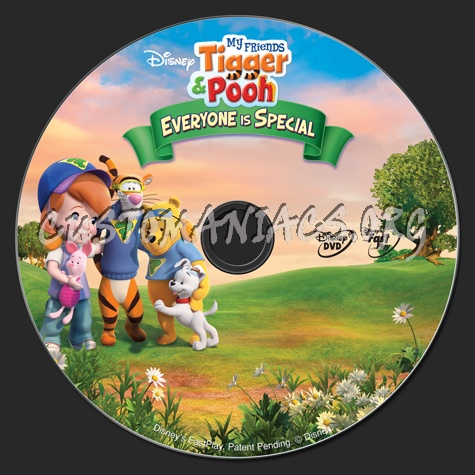 My friends tigger pooh everyone is special dvd label dvd covers my friends tigger pooh everyone is special dvd label altavistaventures Images
