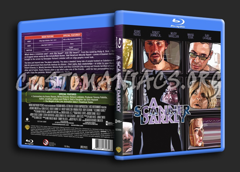 A Scanner Darkly blu-ray cover
