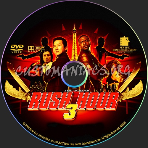 rush hour 3 dvd label dvd covers labels by customaniacs id 23401 free download highres dvd. Black Bedroom Furniture Sets. Home Design Ideas