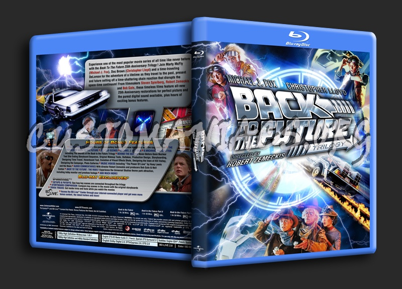 Back To The Future Trilogy blu-ray cover