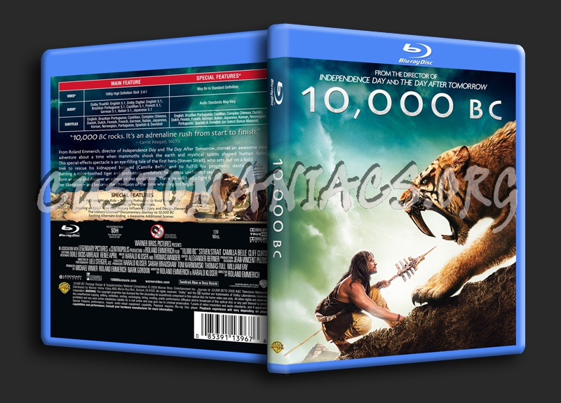 10,000 Bc blu-ray cover
