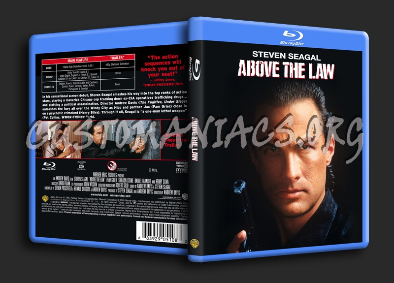Above The Law blu-ray cover