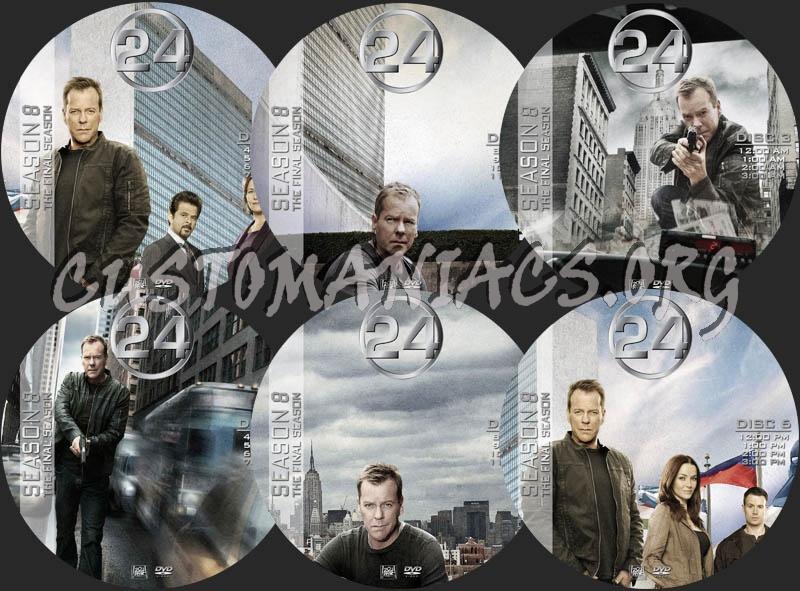 24 - Season 8 dvd label