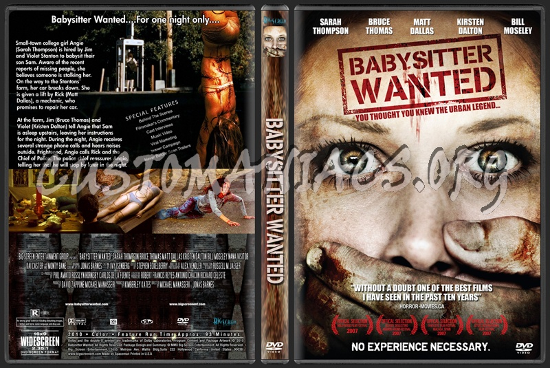 Babysitter Wanted dvd cover - DVD Covers & Labels by Customaniacs ...
