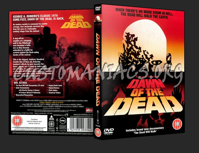 Dawn Of The Dead (1978) dvd cover