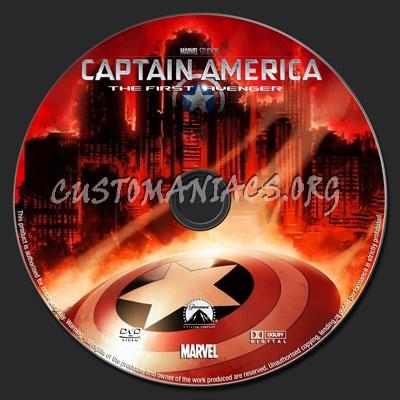 Captain America The First Avenger dvd label