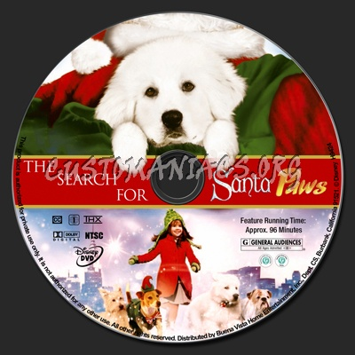 The Search for Santa Paws dvd label