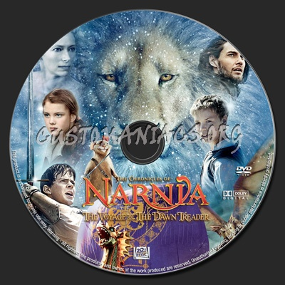 Chronicles of Narnia Voyage of the Dawn Treader dvd label