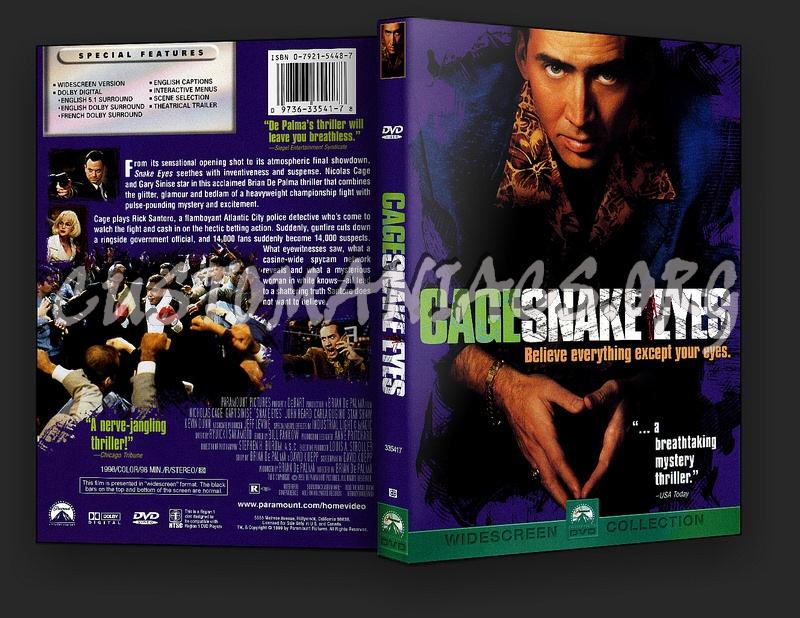 Snake Eyes dvd cover