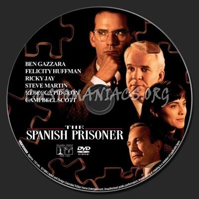The Spanish Prisoner dvd label
