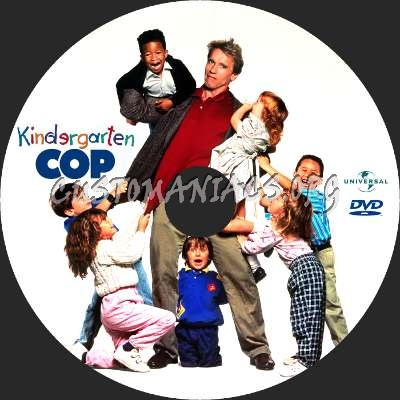 Kindergarten Cop dvd label