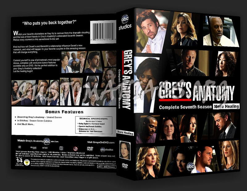 Greys Anatomy Season 7 Dvd Cover Dvd Covers Labels By