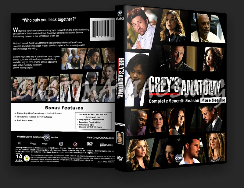 Grey\'s Anatomy Season 7 dvd cover - DVD Covers & Labels by ...