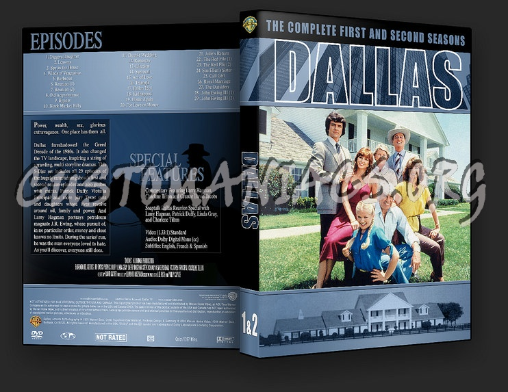 Dallas Season 1-5 dvd cover