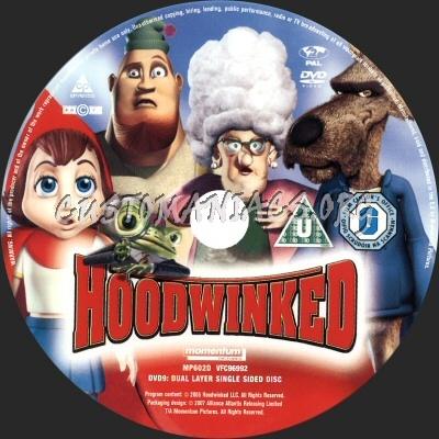 Hoodwinked dvd label
