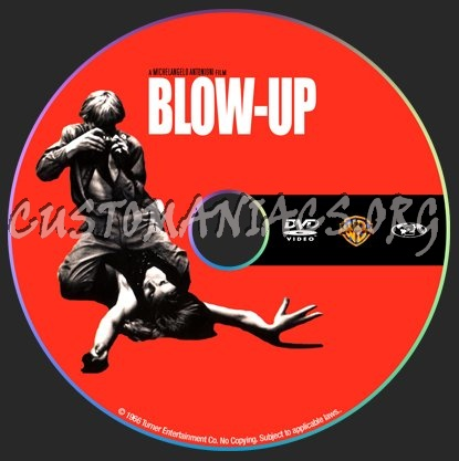 Blow-up (1966) Michelangelo Antonioni dvd label