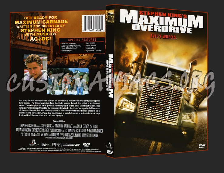 Maximum Overdrive dvd cover