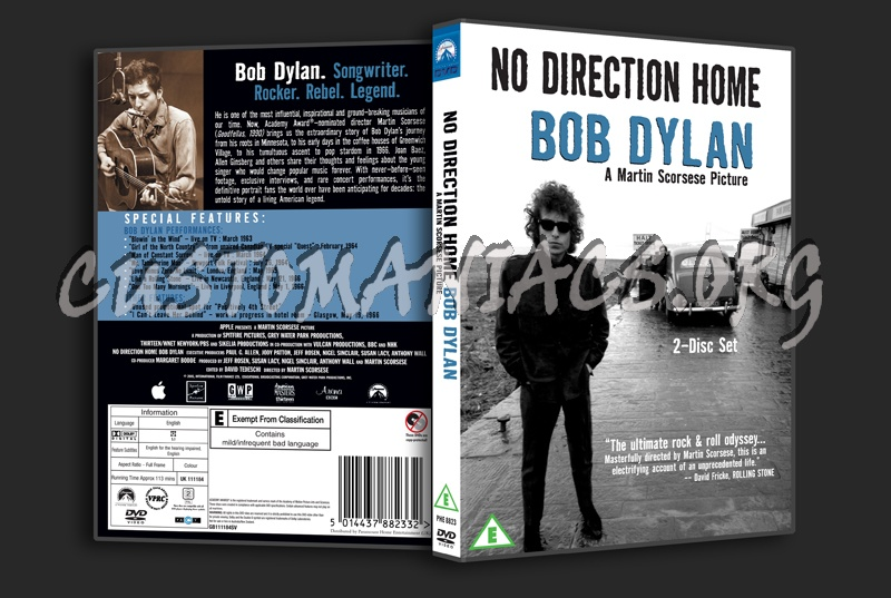 No Direction Home - Bob Dylan dvd cover