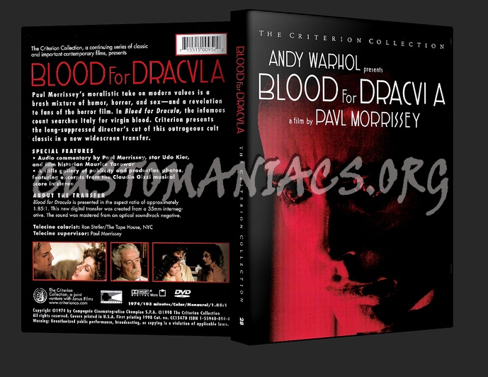 028 - Blood For Dracula dvd cover