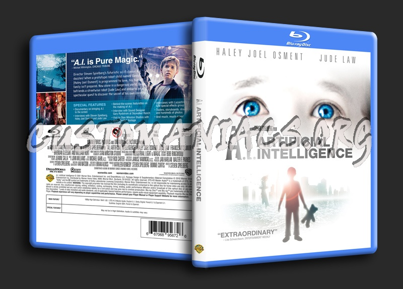 AI Artificial Intelligence blu-ray cover