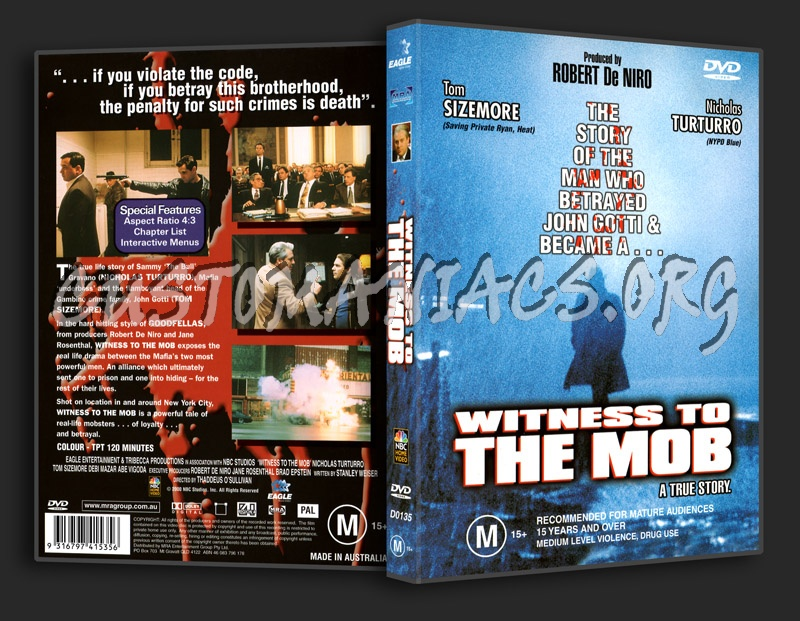Witness To The Mob dvd cover