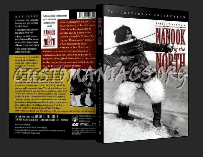033 - Nanook of the North dvd cover
