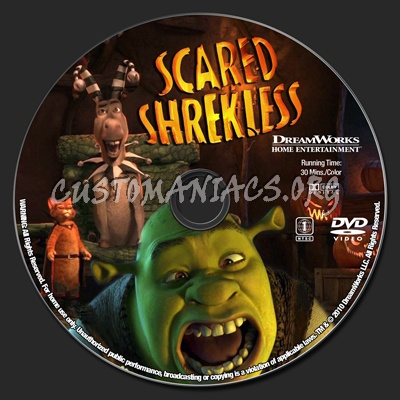 Scared Shrekless dvd label