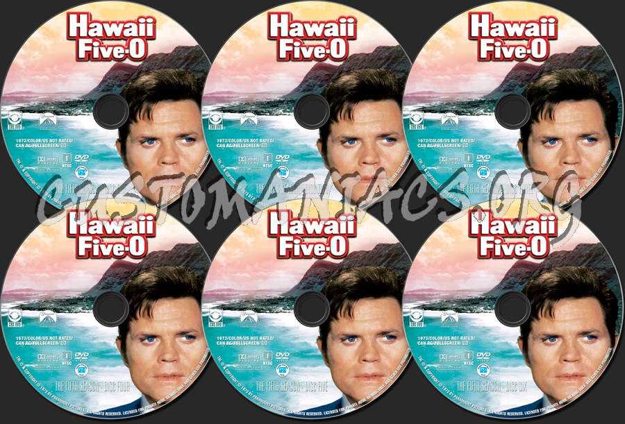 Hawaii five- O Season five dvd label