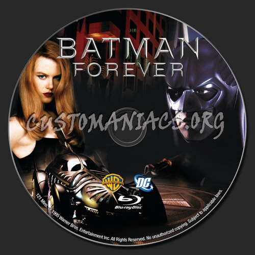Batman Forever blu-ray label
