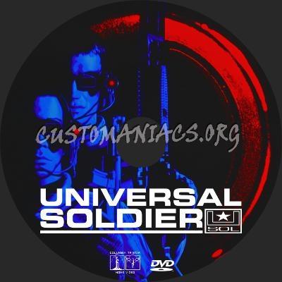 Universal Soldier dvd label
