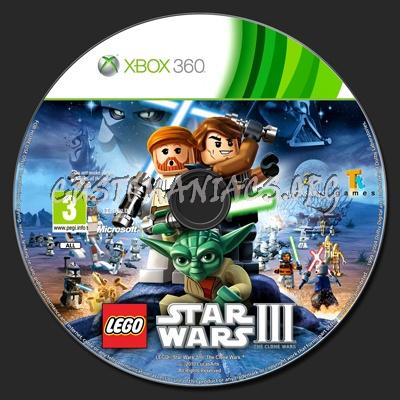 LEGO Star Wars III: The Clone Wars dvd label