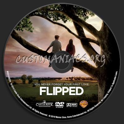 Flipped dvd label