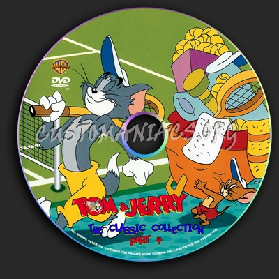 Tom & Jerry The Classic Collection Part 4 dvd label