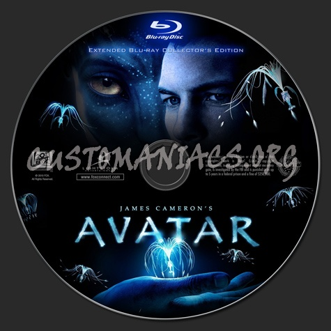Avatar (Extended Edition) blu-ray label