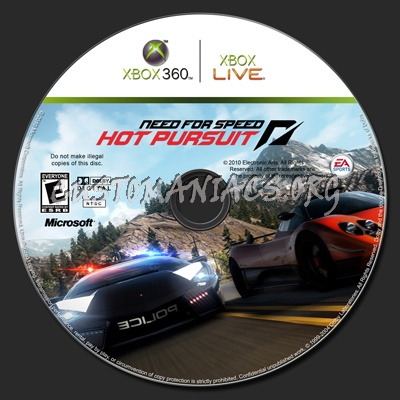 Need For Speed Hot Pursuit Dvd Label Dvd Covers Labels By