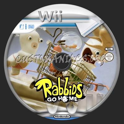 Rabbids Go Home dvd label
