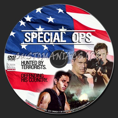 Special Ops aka Disarmed dvd label